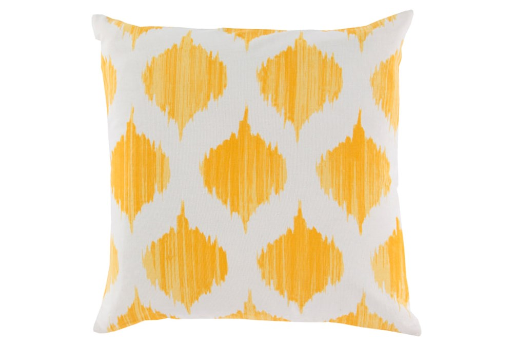 Accent Pillow-Deven Geo Sunflower/Ivory 18X18