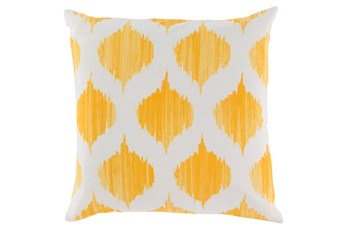 Accent Pillow-Deven Geo Sunflower/Ivory 22X22