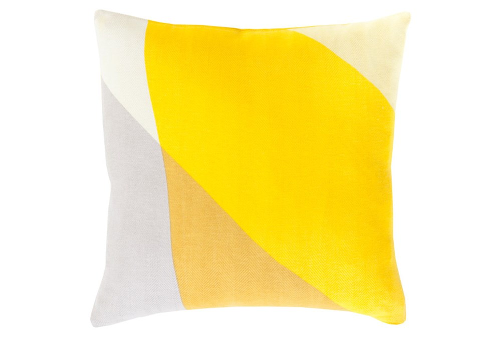 Accent Pillow-Color Block Yellow Multi 22X22