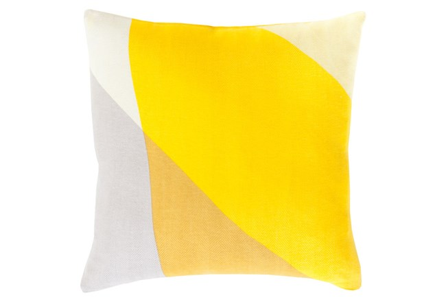 Accent Pillow-Color Block Yellow Multi 22X22 - 360