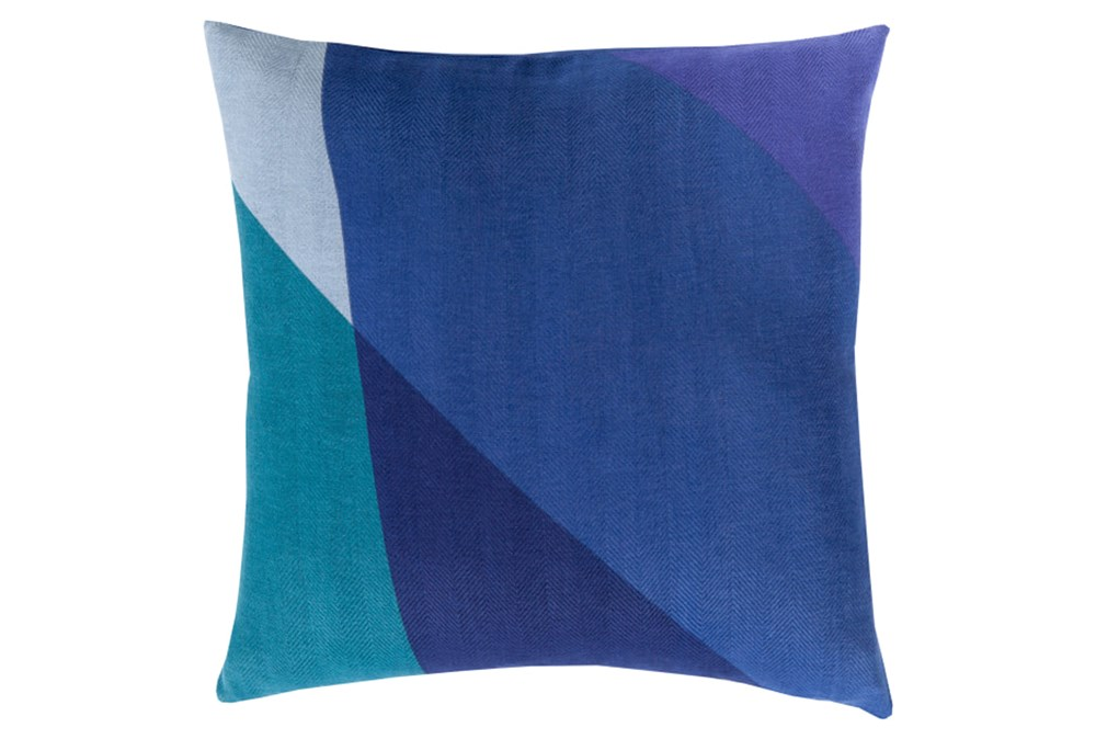 Accent Pillow-Color Block Blue Multi 22X22