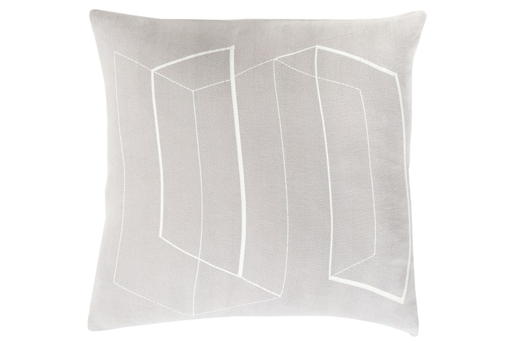 Accent Pillow-Rooms Geo Light Grey/Ivory 22X22