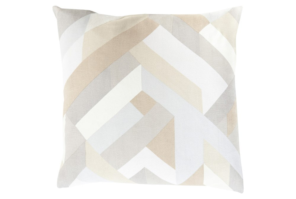 Accent Pillow-Seraphina Woven Geo Natural Multi 22X22