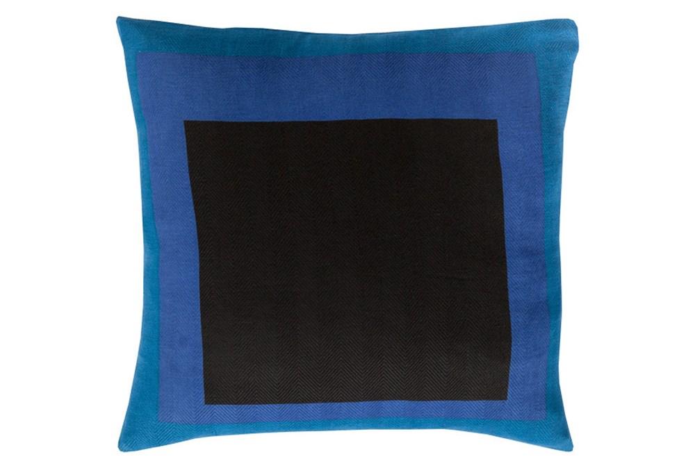 Accent Pillow-Seraphina Squares Black Multi 22X22