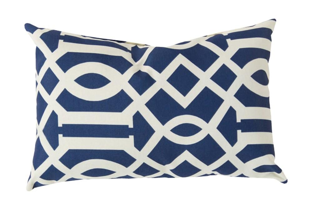 Accent Pillow-Stanley Geo Cobalt/Ivory 13X20