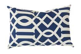 Accent Pillow-Stanley Geo Cobalt/Ivory 13X20