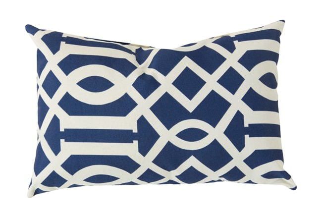 Accent Pillow-Stanley Geo Cobalt/Ivory 13X20 - 360
