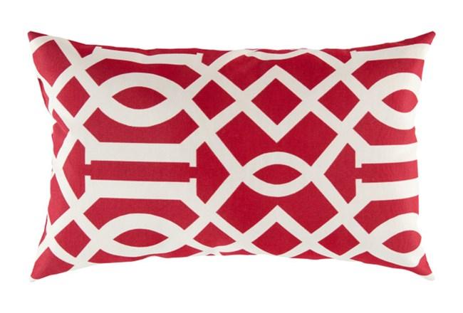 Accent Pillow-Stanley Geo Cherry/Ivory 13X20 - 360