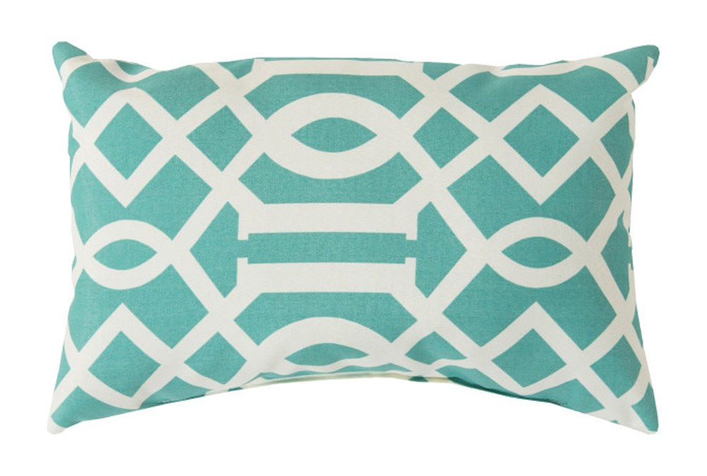 Accent Pillow-Stanley Geo Teal/Ivory 13X20