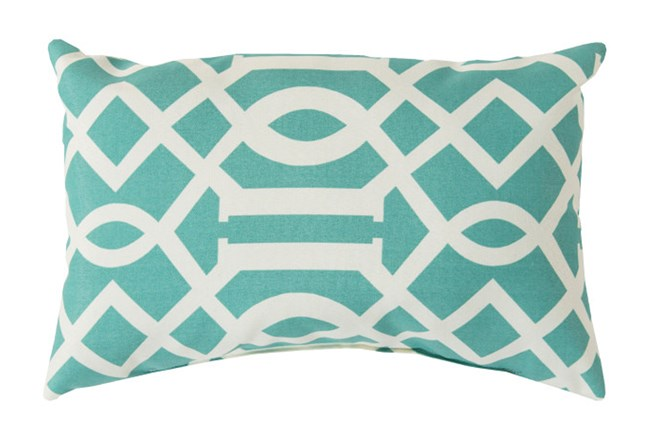 Accent Pillow-Stanley Geo Teal/Ivory 13X20 - 360