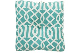 Accent Pillow-Stanley Geo Teal/Ivory 22X22