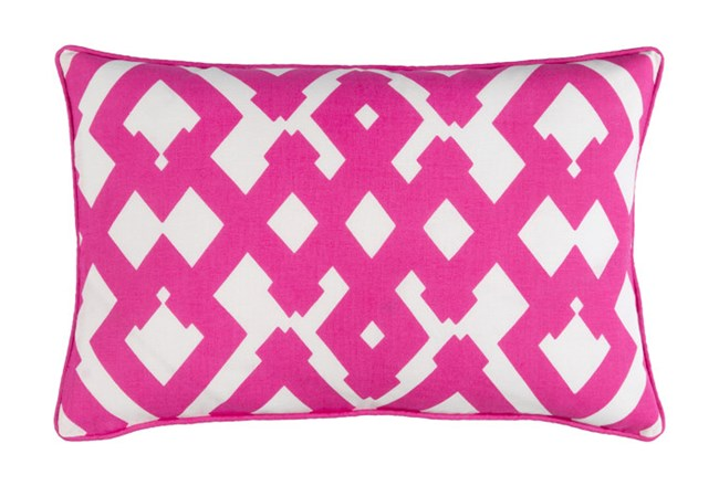 Accent Pillow-Langley Zig Zag Geo Pink/Ivory 13X20 - 360