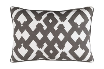 Accent Pillow-Langley Zig Zag Geo Charcoal/Ivory 13X20