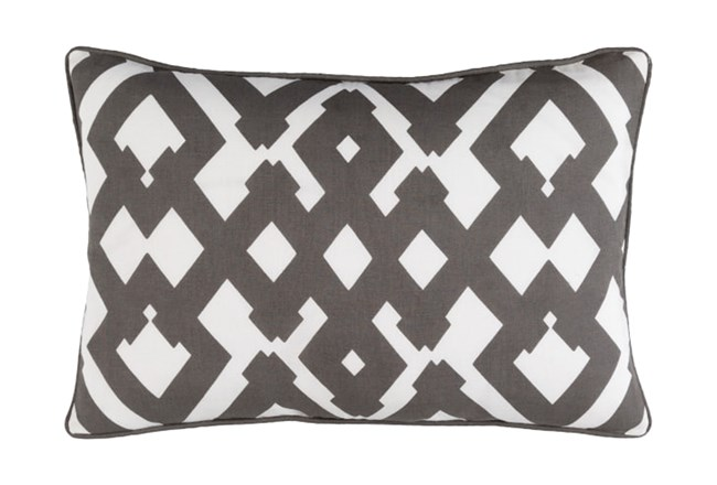 Accent Pillow-Langley Zig Zag Geo Charcoal/Ivory 13X20 - 360