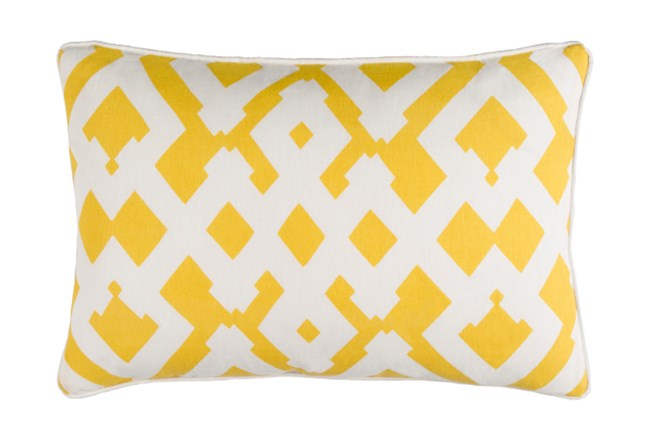 Accent Pillow-Langley Zig Zag Geo Sunflower/Ivory 13X20 - 360