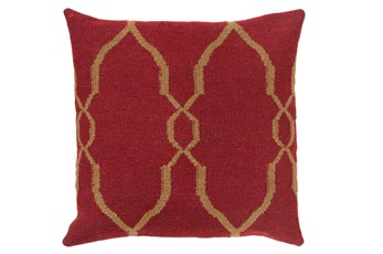 Accent Pillow-Mallory Burgundy 22X22