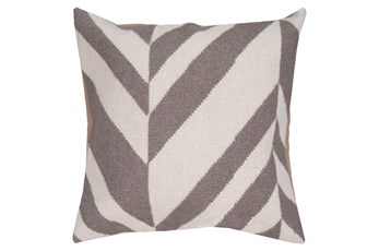 Accent Pillow-Harlon Grey/Ivory 22X22