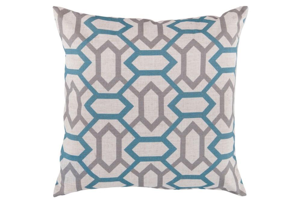 Accent Pillow-Joey Teal/Grey 22X22