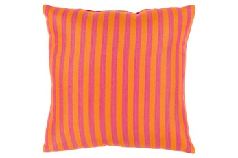 Accent Pillow-Brinley Stripe Orange 16X16