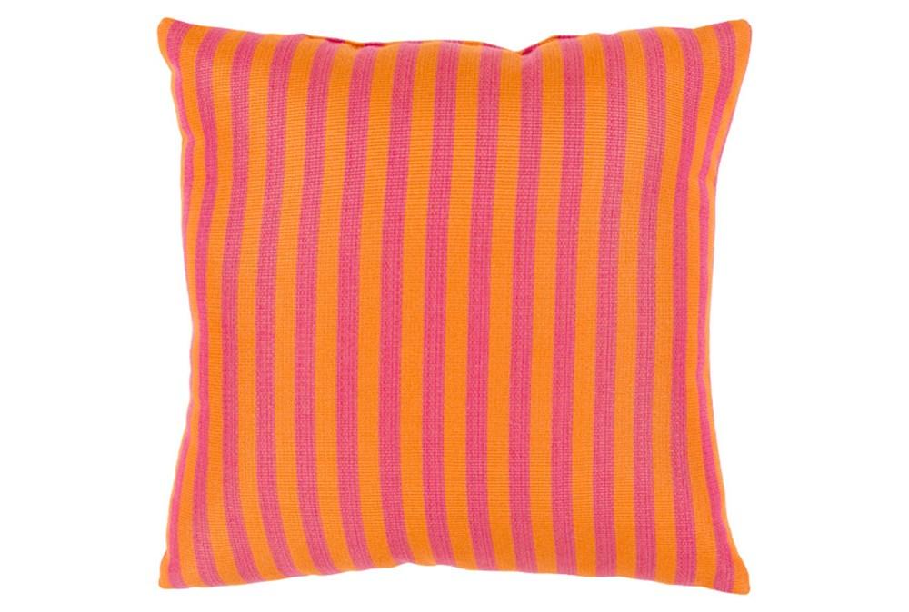 Accent Pillow-Brinley Stripe Orange 20X20