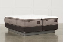 Scarborough Firm Euro Pillow Top Eastern King Split Mattress W/Foundation
