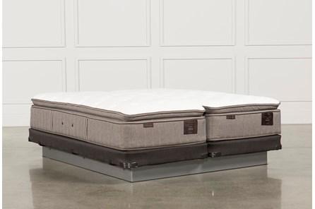 Scarborough Plush Euro Pillow Top Cal King Split Mattress W/Low Profile Foundation