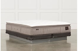 Scarborough Plush Euro Pillow Top Cal King Mattress W/Low Profile Foundation