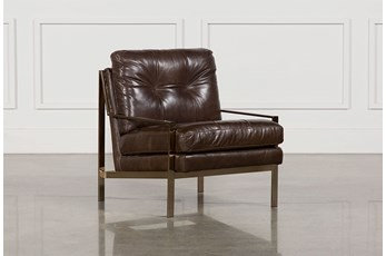 Bryce Leather Accent Chair