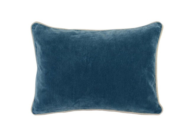 Accent Pillow-Marine Washed Velvet 14X20 - 360