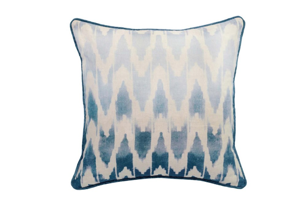 Accent Pillow-Peacock Ombre Ikat 22X22