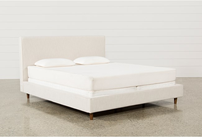 Dean Sand California King Upholstered Panel Bed - 360