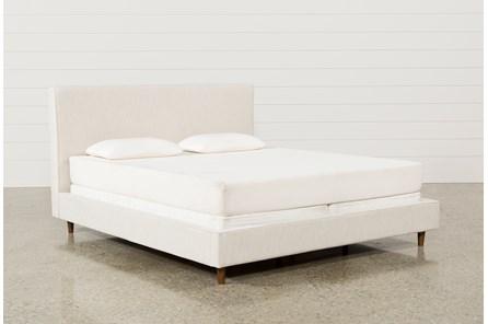 Dean Sand Eastern King Upholstered Panel Bed