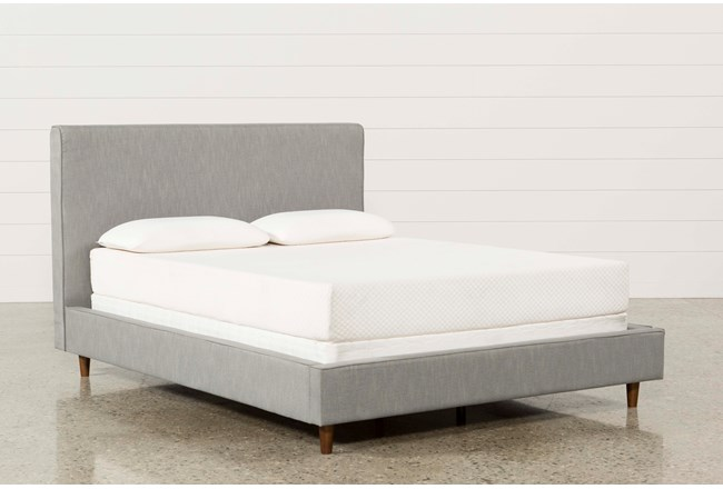Dean Charcoal Eastern King Upholstered Panel Bed - 360