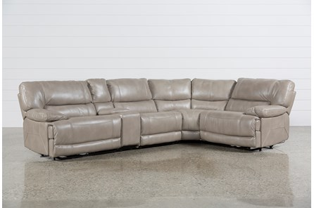 Marx Sahara 5 Piece Power Sectional W/Armless Chair