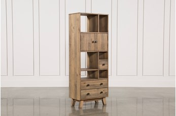 Natural 2-Drawer Bookcase