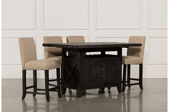 Jaxon 5 Piece Extension Counter Set W/Fabric Stools