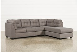 Maier Charcoal 2 Piece Sectional W/Sleeper & Right Facing Chaise