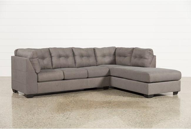 Maier Charcoal 2 Piece Sectional W/Sleeper & Right Facing Chaise - 360
