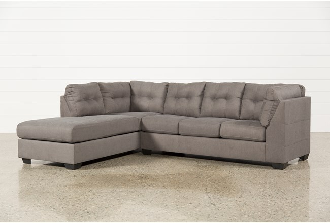 Maier Charcoal 2 Piece Sectional W/Sleeper & Left Facing Chaise - 360