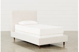 Dean Sand Twin Upholstered Panel Bed