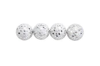 4 Piece Set Mirror Mosaic Balls