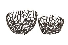 2 Piece Set Aluminum Deco Bowls