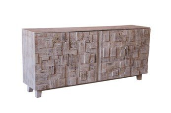 White Wash 4-Door Sideboard