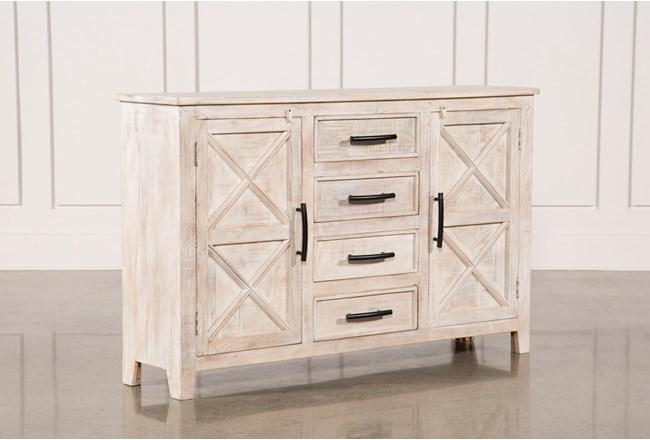 White Wash 4-Drawer/2-Door Chest - 360