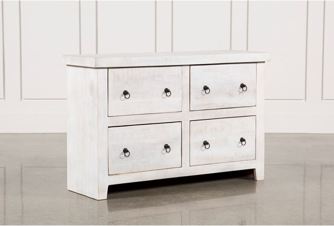 White Wash 4-Drawer Chest - 360