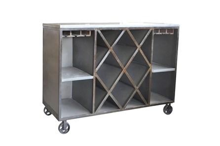Rustic Metal Wine Cabinet