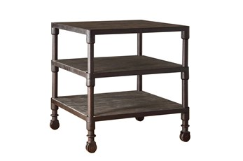 Reclaimed Grey Square End Table
