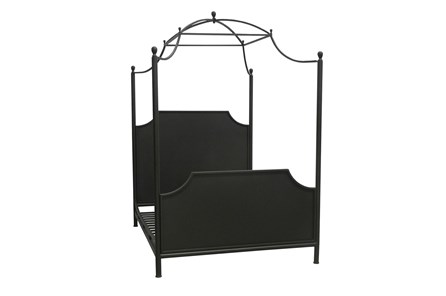 Cobre Iron Queen Canopy Bed