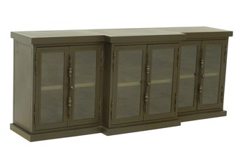 Cobre Iron & Glass 80 Inch Console