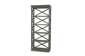 Natural Grey 89 Inch Stacking Bookcase